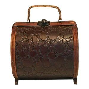 Vintage Wooden Barrel Purse